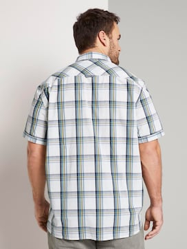Checked short-sleeved shirt - 2 - Men Plus