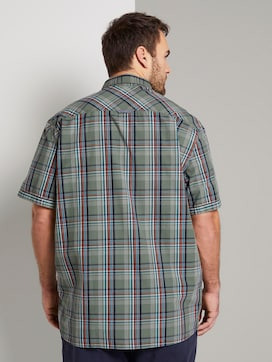 Checked short-sleeved shirt - 2 - Men Plus