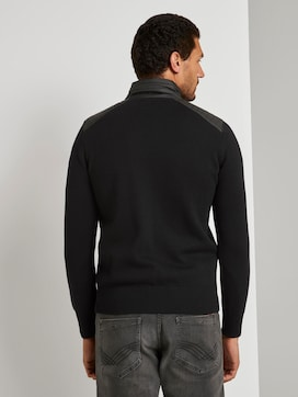 Cardigan with a nylon stand-up collar - 2 - TOM TAILOR