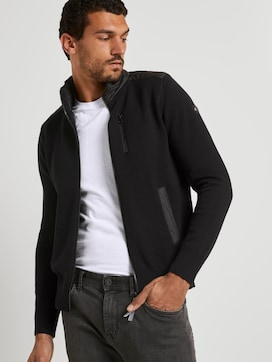 Cardigan with a nylon stand-up collar - 5 - TOM TAILOR