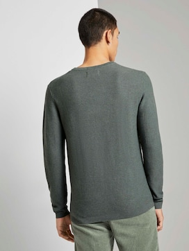 Pullover with waffle structure - 2 - TOM TAILOR Denim