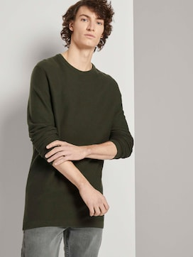 Langer Pullover mit Struktur - 5 - TOM TAILOR Denim
