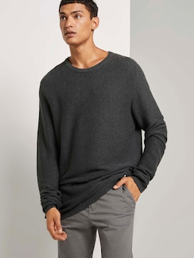 Langer Pullover mit Struktur - 5 - TOM TAILOR Denim
