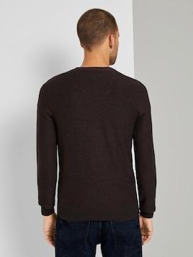 Basic Pullover met gestreept patroon - 2 - TOM TAILOR
