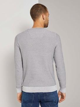 Basic Pullover mit Streifenstruktur - 2 - TOM TAILOR