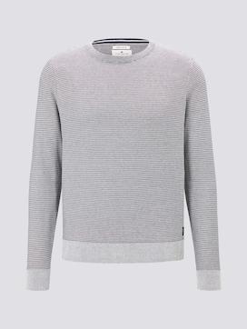 Basic Pullover mit Streifenstruktur - 7 - TOM TAILOR