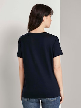 Basic T-Shirt aus Lyocell - 2 - TOM TAILOR