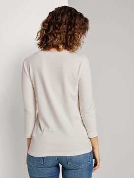 Shirt mit V-Ausschnitt - 2 - TOM TAILOR