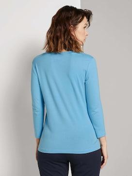 Shirt with a V-neckline - 2 - TOM TAILOR