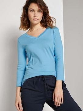 Shirt with a V-neckline - 5 - TOM TAILOR