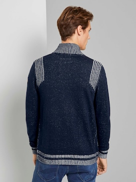 Melierte Strickjacke mit Stehkragen - 2 - TOM TAILOR