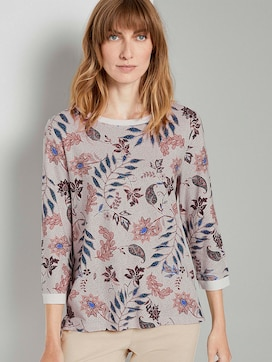 Sweatshirt mit Blumenmuster - 5 - TOM TAILOR