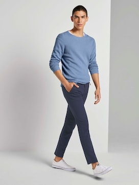 Textured chinos with a belt - 3 - TOM TAILOR Denim