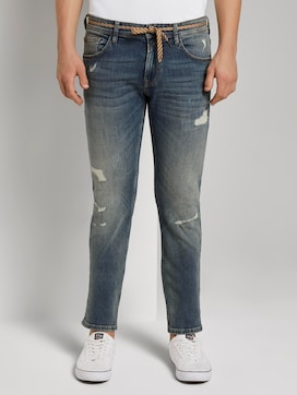 Piers slim jeans in a destroyed look - 1 - TOM TAILOR Denim