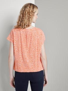 Gemustertes Shirt mit Schleife - 2 - TOM TAILOR