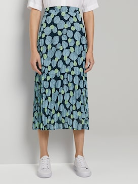 Pleated skirt with an all-over print - 1 - Mine to five