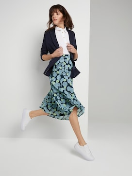 Pleated skirt with an all-over print - 3 - Mine to five