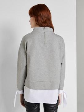 Sweatshirt mit Hemd-Underlayer - 2 - TOM TAILOR