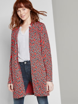Long blazer with a leo pattern - 5 - TOM TAILOR