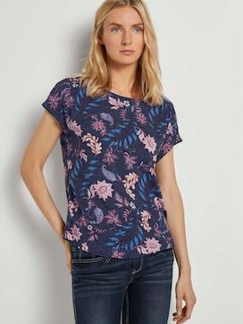 Kurzarm-Bluse mit Blumenmuster - 5 - TOM TAILOR