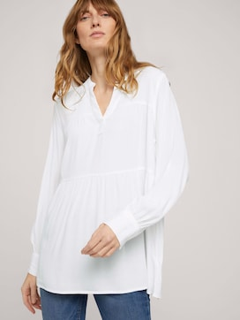 Tunika Bluse mit Volants - 5 - TOM TAILOR