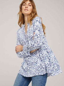 Tunic blouse with flounces - 5 - TOM TAILOR