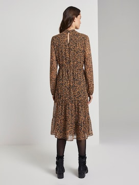 Patterned midi dress with flounce - 2 - TOM TAILOR