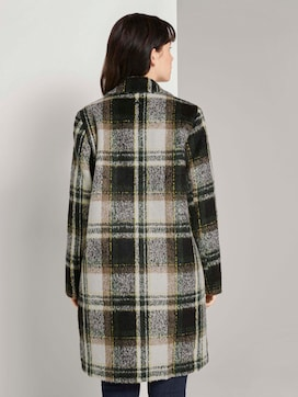 Checked coat with quilted lining - 2 - TOM TAILOR