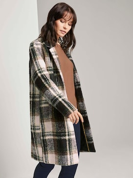 Checked coat with quilted lining - 5 - TOM TAILOR