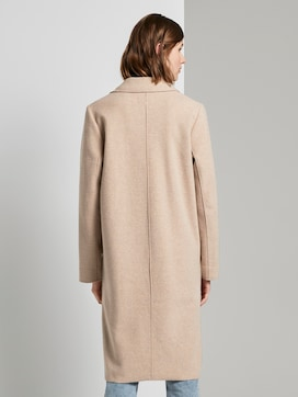 Long coat with side slits - 2 - TOM TAILOR