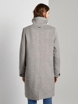 Modern coat with a stand-up collar - 2 - TOM TAILOR