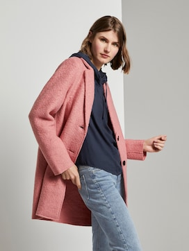 Loose bouclé coat - 5 - TOM TAILOR