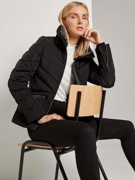 Quilted jacket with a fur collar - 5 - TOM TAILOR