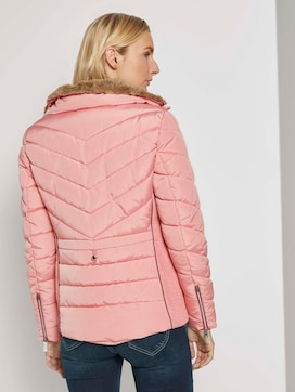 Quilted jacket with a fur collar - 2 - TOM TAILOR