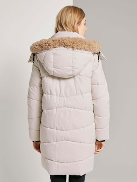 Puffer jacket with a fur collar - 2 - TOM TAILOR