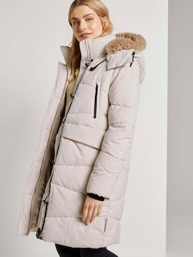 Puffer jacket with a fur collar - 5 - TOM TAILOR