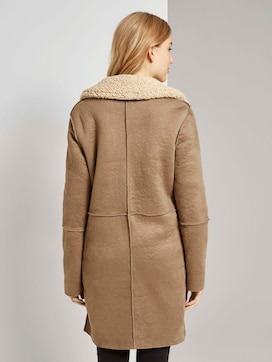Shearling Wendemantel aus Kunstfell  - 2 - TOM TAILOR
