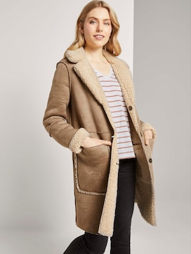 Shearling Wendemantel aus Kunstfell  - 5 - TOM TAILOR