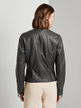 Faux leather biker jacket - 2 - TOM TAILOR