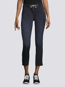 Tapered Relaxed Hose mit Tunnelzug - 1 - TOM TAILOR