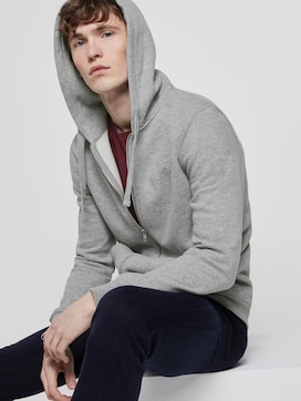Sweat jacket with a reflective print - 5 - TOM TAILOR Denim