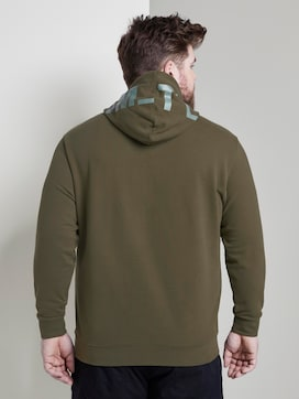 Hoodie with a hood print - 2 - Men Plus