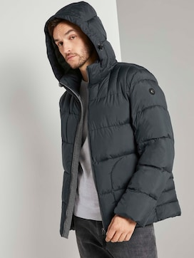 Puffer jacket with a hood - 5 - TOM TAILOR