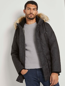 Long winter jacket with a fur collar - 5 - TOM TAILOR