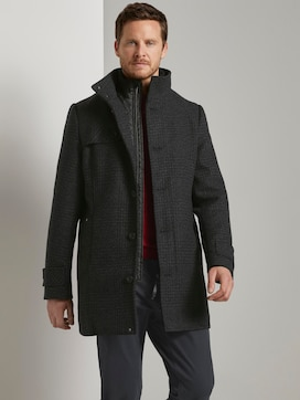 Wool coat with a quilted undercoat - 5 - TOM TAILOR