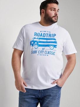 T-shirt with a print - 5 - Men Plus
