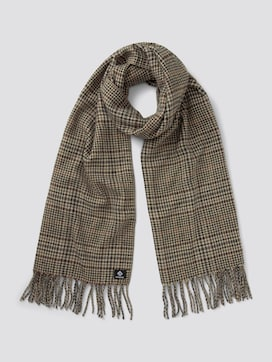 Checked scarf with fringes - 7 - TOM TAILOR Denim