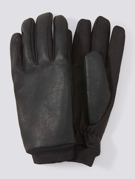 Imitation leather gloves - 7 - TOM TAILOR