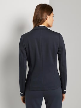 Jersey blazer with rib inserts - 2 - TOM TAILOR