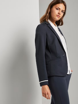 Jersey blazer with rib inserts - 5 - TOM TAILOR